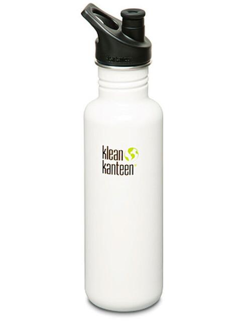 Klean Kanteen Classic Drinkfles Sport Cap 800ml wit